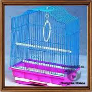 Клетки для попугаев и разные аксессуары.